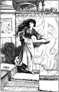 G.P. Jacomb Hood's illustration for Cinderella in The Blue Fairy Book